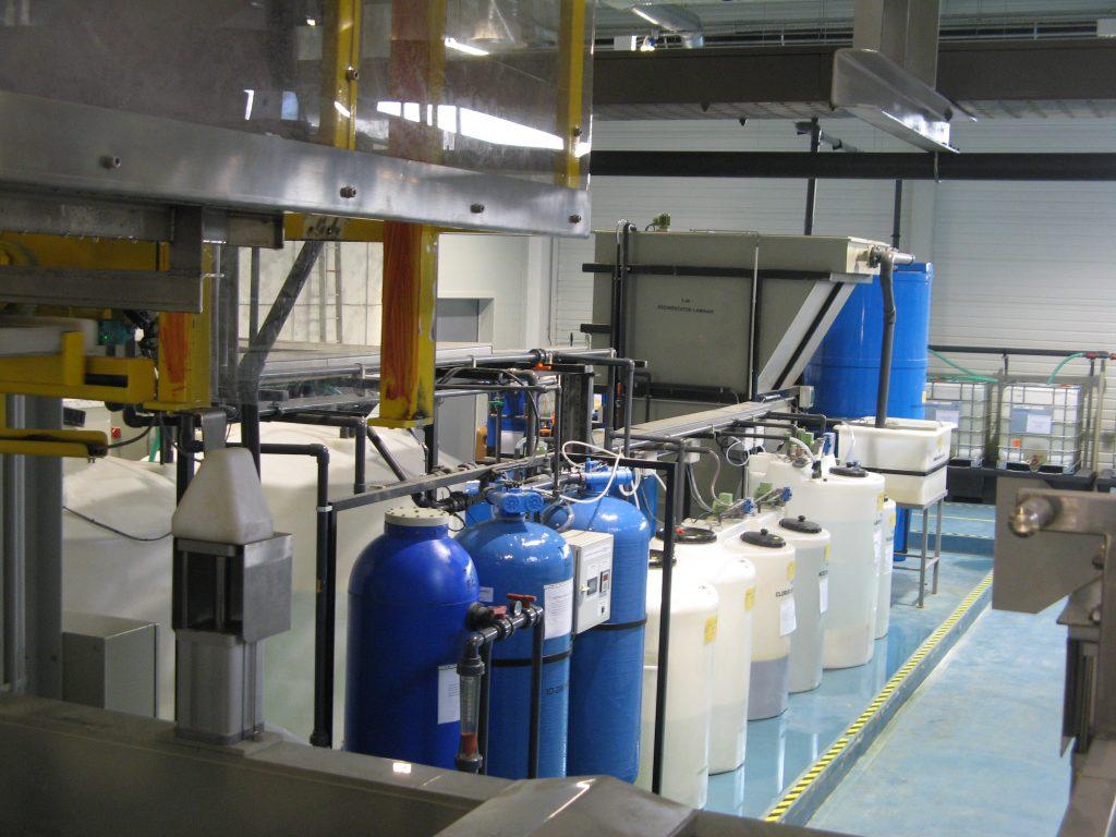 Instalación depuración agua residual